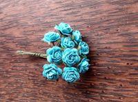 Мълбери рози в цвят тюркоаз, 10мм