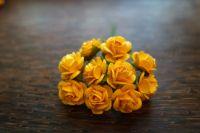 Мълбери рози в цвят патешко жълто, 15мм