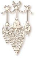 Шаблон за изрязване - Висяща коледна украса