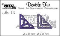 """Комплект  от 2 шаблона за изрязване - декоративни ъгълчета """"№13"""""""