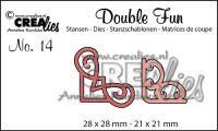 """Комплект  от 2 шаблона за изрязване - декоративни ъгълчета """"№14"""""""