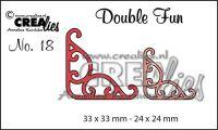 """Комплект  от 2 шаблона за изрязване - декоративни ъгълчета """"№18"""""""