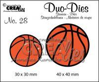 """Комплект  от 2 шаблона за изрязване - """"Баскетболни топки"""""""