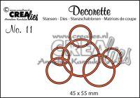 """Декоративна решетка 11, """"Преплетени кръгове"""""""