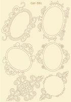 "Елементи от бирен картон ""6 вида рамки"", Сет 591"