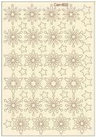 """Елементи от бирен картон """"Снежинки и звезди"""", Сет 602"""
