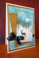 """Дизайнерска картичка """"В снежната гора."""""""