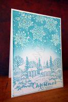 """Коледна картичка """"Зимна приказка"""""""