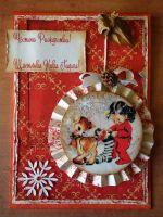 """Поздравителна картичка """"Честито рождество! Щастлива Нова Година!"""""""