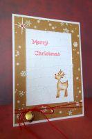 Коледна картичка с еленчето Рудолф