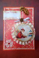 Коледна картичка с Дядо Коледа