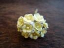 Цветенца от мълбери хартия, жълто-бели, 15мм