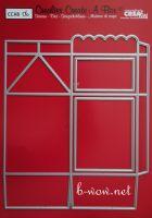 Щанца за изрязване на кутийка - тип кутия за мляко, вариант 6