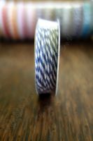 Ролка двуцветен шнур, тъмносиньо и бяло, 4.6м