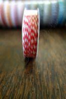 Ролка двуцветен шнур, червено и бяло, 4.6м