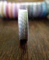 Ролка двуцветен шнур, сиво и бяло, 4.6м