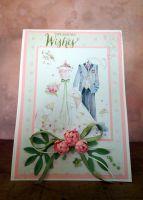 Сватбени поздрави в розово и зелено