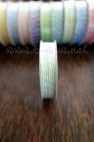 Ролка двуцветен шнур,  бледозелено и бяло, 4.6м