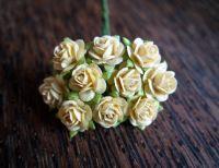 Рози, кремави, 10мм