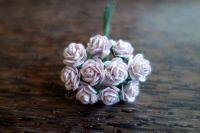 Рози от мълбери хартия, цвят люляк, 10мм