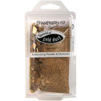 Ембосинг пудра с елементи - Златен прашец
