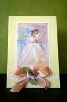"""Елегантна сватбена картичка """"Лилава мъгла"""""""