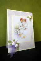 """Картичка """"Сватба в пастелни цветове"""""""