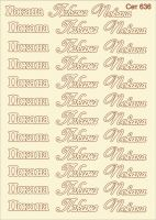 "Елементи от бирен картон ""Надписи ""Покана"""", Сет 636"