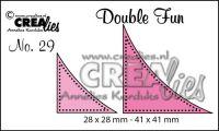 """Комплект  от 2 шаблона за изрязване - декоративни ъгълчета с точки """"№29"""""""