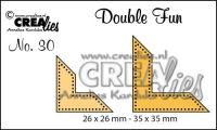 """Комплект  от 2 шаблона за изрязване - декоративни ъгълчета с точки """"№30"""""""