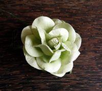 Роза от мълбери хартия, 50мм, светлозелена