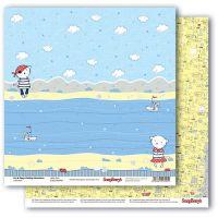 """Дизайнерски комплект хартии """"Морските приключения на Зоуи и Зиги"""", 30.5 х 30.5"""