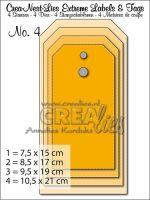 Комплект щанци за изрязване на големи тагове - вариант 4