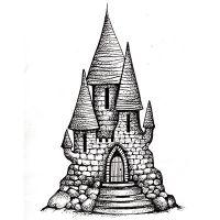 """Прозрачен печат """"Приказен замък"""""""