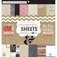 "Дизайнерски блок хартии ""Ти & Аз"", 30.5см, MAMBI"