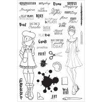 """Комплект прозрачни печати """"Крафт ден"""", Julie Nutting"""