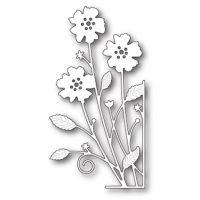 """Щанца за изрязване """"Антилски цветя - големи - десен ъгъл"""""""