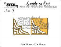 Комплект щанци за изрязване на декоративни ъгълчета №9