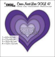Комплект щанци за изрязване на сърца с двойни точки - 47