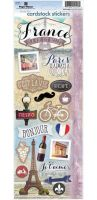 """Дизайнерски стикери """"Франция"""""""