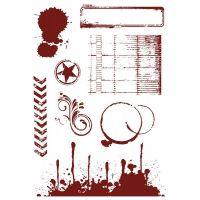 """Комплект гумени печати без подложка """"Журнални"""", Crafter's Companion"""
