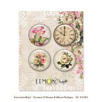 "Скрапбукинг копчета ""Дом на рози"", 4бр., Lemoncraft"