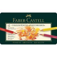 """Комплект моливи за оцветяване """"Полихромос"""", 12 цвята, Faber Castell"""