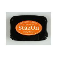 """StazOn мастило """"Rusty Brown"""" - 8см х 5см"""