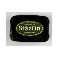 """StazOn мастило """"Olive Green"""" - 8см х 5см"""