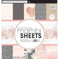 "Дизайнерски блок хартии ""Розово злато"", 30.5см, MAMBI"