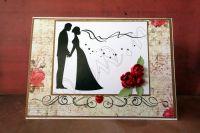"""Сватбена картичка """"Червени рози"""""""