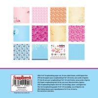 """Дизайнерски комплект хартии """"Японски мечти"""", 15см, ScrapBerry's"""