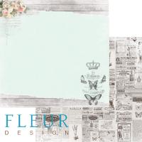 """Дизайнерски лист хартия """"Happiness"""", 30.5см, Fleur Design"""