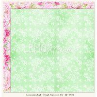 """Дизайнерски лист хартия """"Свежо лято """"-6 - 30.5см, Lemoncraft"""